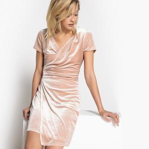 033e5e3f966 Платье из велюра с драпированым эффектом LA REDOUTE COLLECTIONS. Цвет   телесный