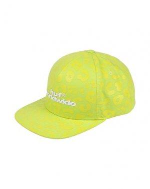 Головной убор HUF. Цвет: кислотно-зеленый