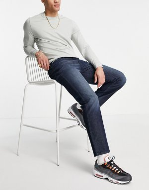 Синие джинсы прямого кроя Burton-Голубой Burton Menswear