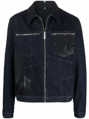 Джинсовая куртка с контрастными вставками MCQ. Цвет: синий