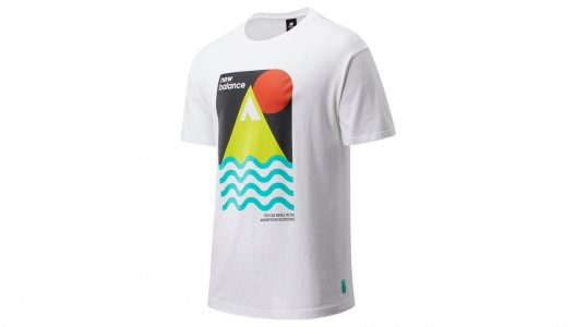 Футболки NB ATHLETICS TRAIL REVEL TEE New Balance. Цвет: белый