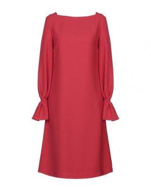 Платье до колена CAROLINA HERRERA. Цвет: красный