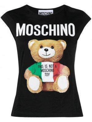 Топ Teddy Bear Moschino. Цвет: черный