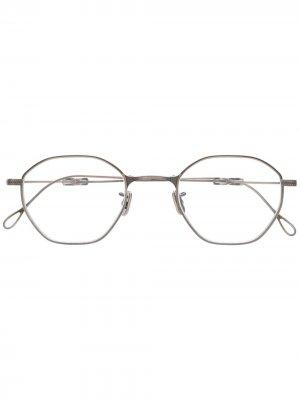 Складные очки в круглой оправе Eyevan7285. Цвет: серебристый