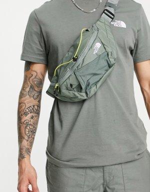 Сумка-кошелек цвета хаки на пояс Lumbnical-Зеленый цвет The North Face