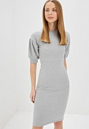 Платье Lost Ink SEAM DEATL SWEAT DRESS. Цвет: серый