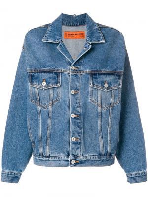 Джинсовая куртка в стиле оверсайз Heron Preston. Цвет: синий
