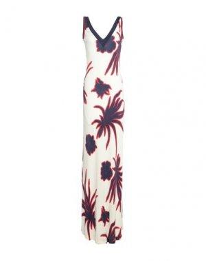 Длинное платье PINKO. Цвет: белый