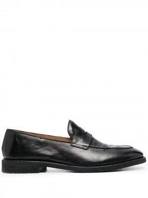 Лоферы на низком каблуке Alberto Fasciani. Цвет: черный