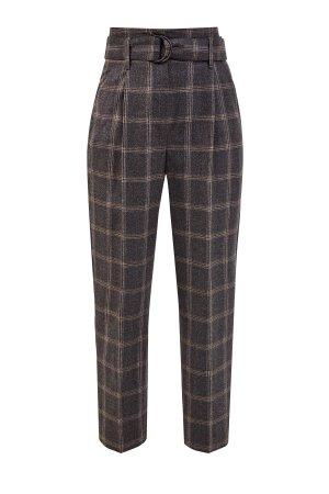 Зауженные брюки Tailored из мягкой шерстяной фланели BRUNELLO CUCINELLI. Цвет: серый