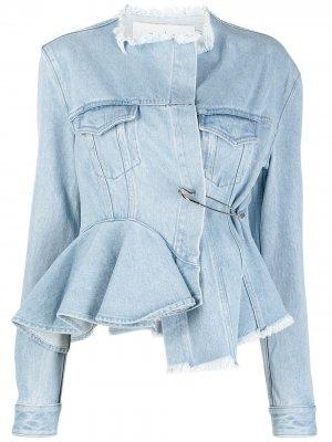 MarquesAlmeida джинсовая куртка с баской Marques'Almeida. Цвет: синий