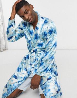 Атласный халат с принтом от комплекта -Многоцветный ASOS DESIGN