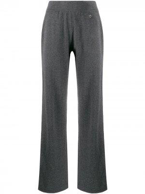 Трикотажные брюки прямого кроя Salvatore Ferragamo. Цвет: серый