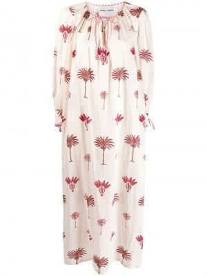 Платье с принтом Antik Batik. Цвет: белый