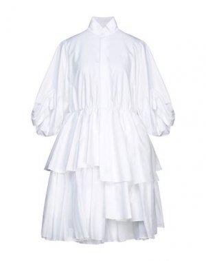 Платье до колена DICE KAYEK. Цвет: белый