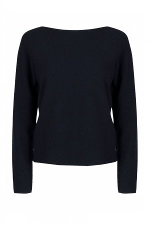 Темно-синий пуловер из шерсти Fabiana Filippi. Цвет: синий