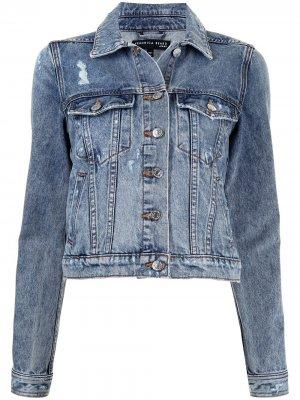 Джинсовая куртка Cara с прорезями Veronica Beard. Цвет: синий
