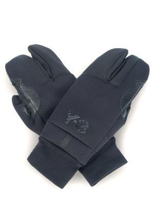 Перчатки-крабы Y-3. Цвет: черный