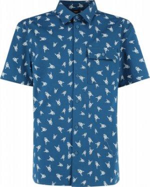 Рубашка с коротким рукавом для мальчиков , размер 170 Termit. Цвет: синий