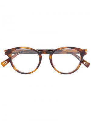 Round tortoiseshell glasses Marc Jacobs Eyewear. Цвет: коричневый