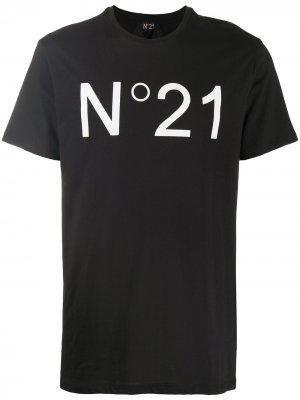Logo-print short-sleeve T-shirt Nº21. Цвет: черный