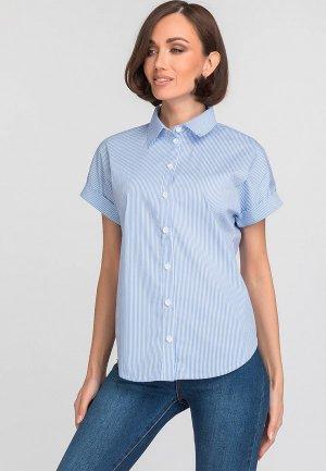 Рубашка Gloss. Цвет: голубой