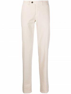 Прямые брюки чинос Canali. Цвет: нейтральные цвета