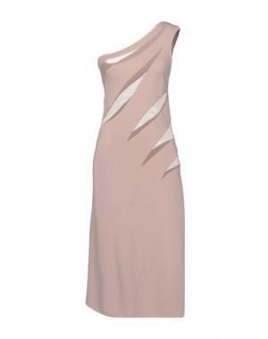 Платье до колена AZZARO. Цвет: розовый
