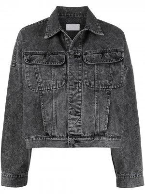 Укороченная джинсовая куртка Boyish Jeans. Цвет: черный