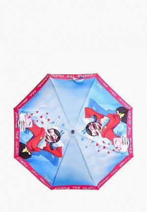 Зонт складной Boutique Moschino. Цвет: голубой
