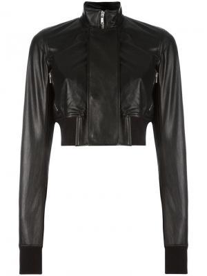Кожаная куртка Glitter Egon Rick Owens. Цвет: чёрный