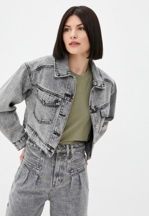 Куртка джинсовая Befree. Цвет: серый