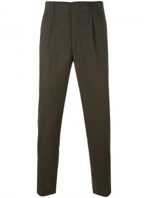Зауженные костюмные брюки Dondup. Цвет: зелёный