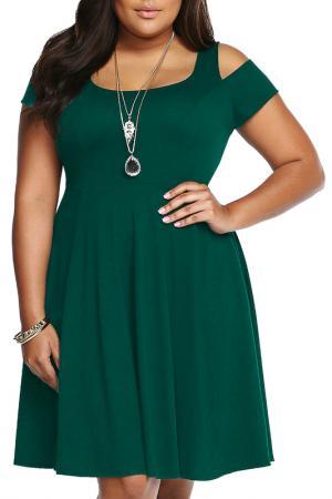 Платье Rebecca Bella. Цвет: green