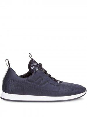 Двухцветные кроссовки Fendi. Цвет: синий