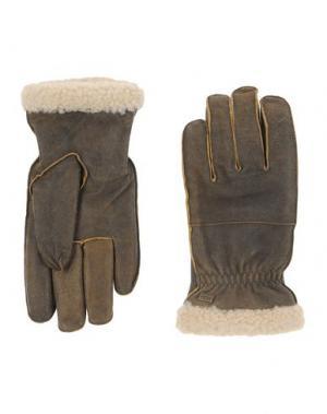 Перчатки UGG AUSTRALIA. Цвет: стальной серый