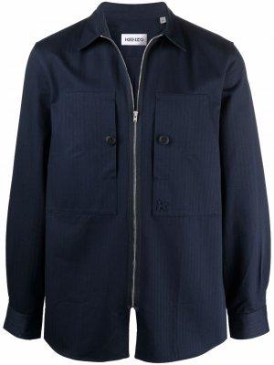 Куртка-рубашка в полоску Kenzo. Цвет: синий