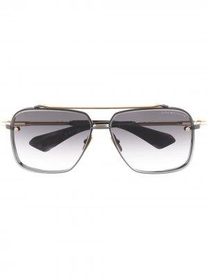 Солнцезащитные очки Mach 6 в квадратной оправе Dita Eyewear. Цвет: черный