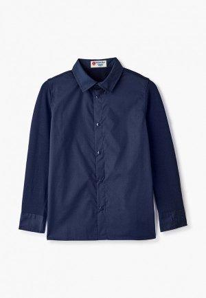 Рубашка Button Blue. Цвет: синий