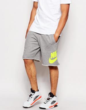 Трикотажные шорты с большим логотипом AW77 Nike