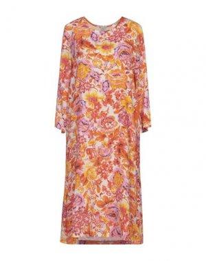 Платье до колена JEFF. Цвет: оранжевый
