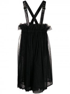 Расклешенное платье-сарафан Comme Des Garçons Noir Kei Ninomiya. Цвет: черный