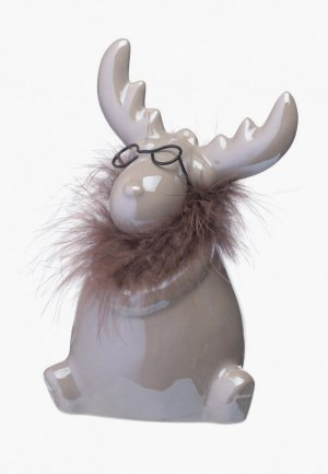 Фигурка декоративная Decogallery Лось в очках. Цвет: коричневый