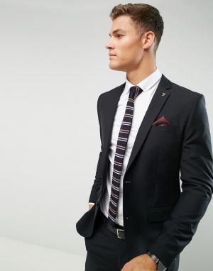Черный приталенный пиджак Farah Smart