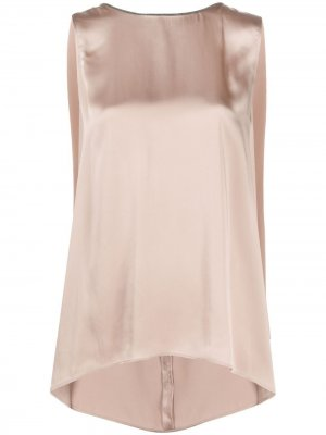 Brass-embellished sleeveless top Fabiana Filippi. Цвет: розовый