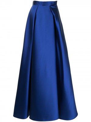 Плиссированная юбка макси с завышенной талией Alberta Ferretti. Цвет: синий
