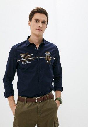 Рубашка Aeronautica Militare. Цвет: синий
