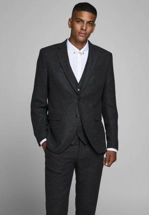Пиджак Jack & Jones. Цвет: серый