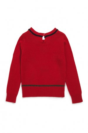 Пуловер красный шерстяной Bonpoint. Цвет: красный