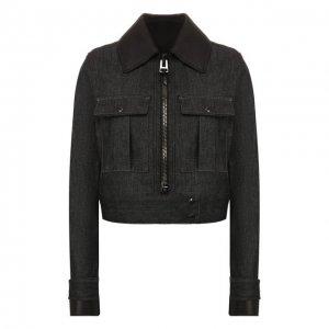 Джинсовая куртка Tom Ford. Цвет: чёрный